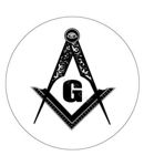 Masonic Car Decal- Black