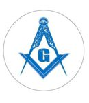 Masonic Car Decal- Blue