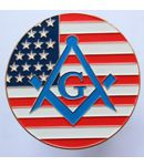 American Masonic Car Decal